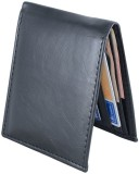 HolBoro Men Black Artificial Leather Wal...