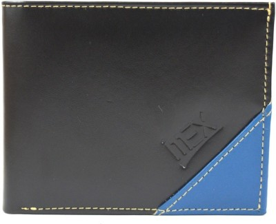 Imex International Men Black, Blue Genuine Leather Wallet