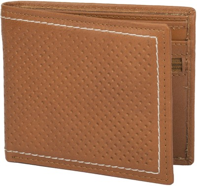 Chisel Men Tan Genuine Leather Wallet(4 Card Slots)