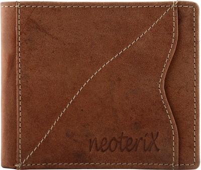 Neoterix Men Brown Genuine Leather Wallet(6 Card Slots)
