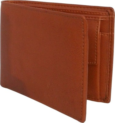 NUKAICHAU Men Tan Artificial Leather Wallet(3 Card Slots)