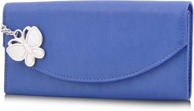 Butterflies Women Casual Blue Artificial Leather Wallet