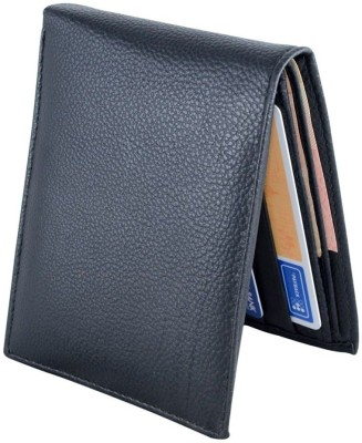HolBoro Men Black Artificial Leather Wallet(6 Card Slots)