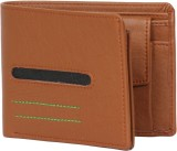 JMD Men Tan Artificial Leather Wallet (5...
