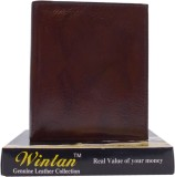 Ruff Men Brown Genuine Leather Wallet (3...