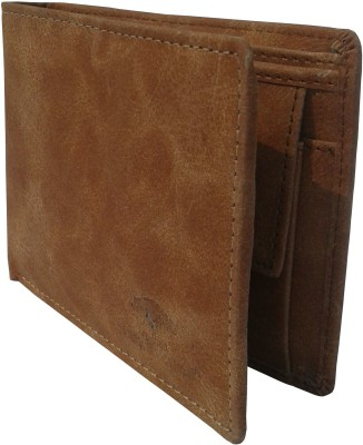 NUKAICHAU Boys Tan Artificial Leather Wallet(3 Card Slots)