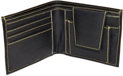 Essart Men Casual Black Genuine Leather Wallet