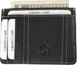 AzraJamil Men Black Genuine Leather Card...