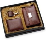 Arum Men Brown Genuine Leather Wallet (8...