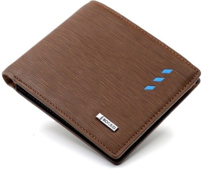 Bogesi Men Brown Artificial Leather Wallet(6 Card Slots)