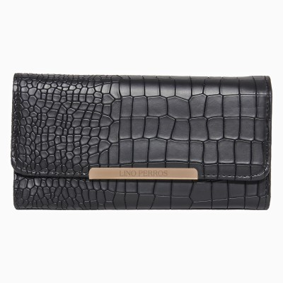 Lino Perros Women Black Artificial Leather Wallet