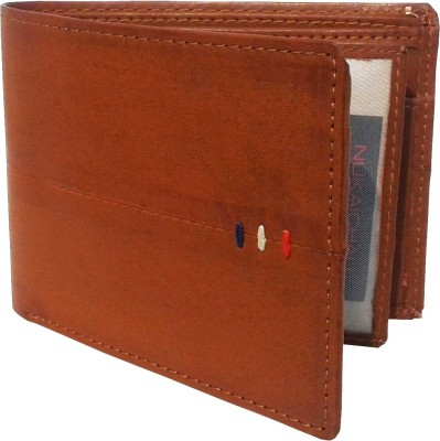 NUKAICHAU Men Tan Artificial Leather Wallet(7 Card Slots)