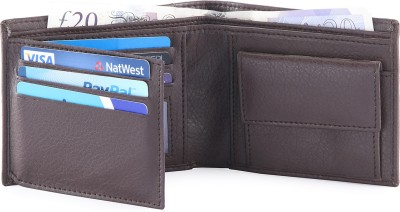 Hide & Sleek Men Brown Artificial Leather Wallet