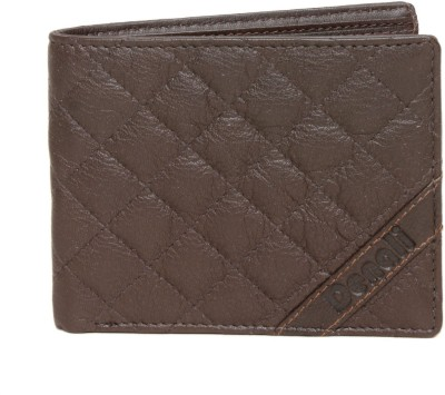 Denali Men Brown Genuine Leather Wallet