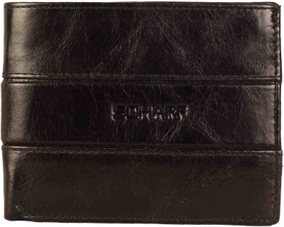 Scharf Men Black Genuine Leather Wallet(11 Card Slots)