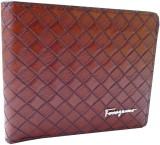 Ferrogama Men Brown Genuine Leather Wall...
