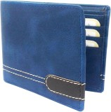 REBECO Men Blue Artificial Leather Walle...