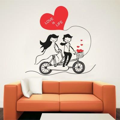 Wallnutscafe Romance Wallpaper(36 Cm X 36 cm)