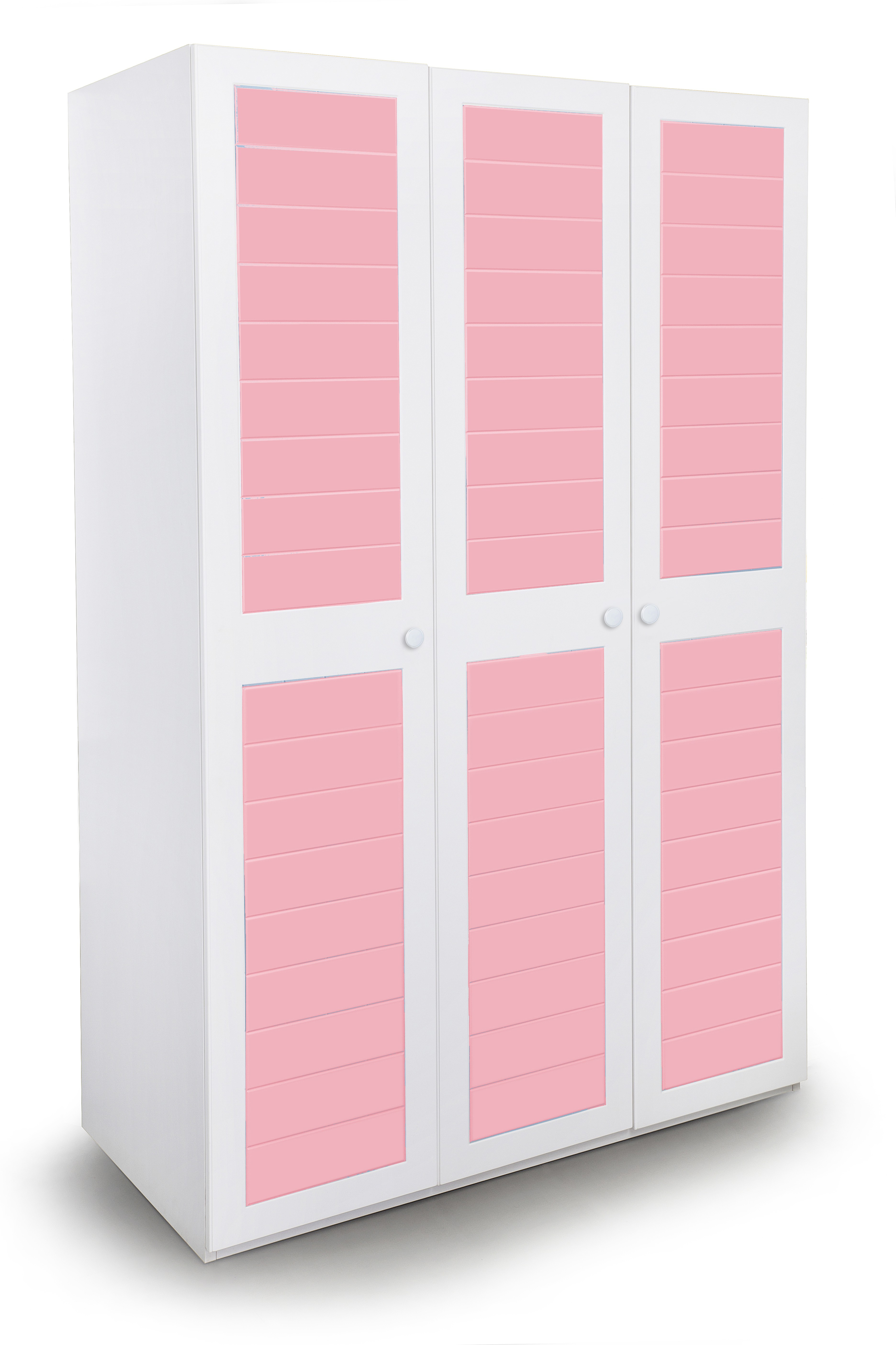 View Alex Daisy French Engineered Wood 3 Door Wardrobe(Finish Color - Pink and White) Price Online(Alex Daisy)