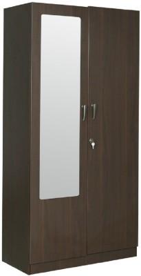 RAWAT LUCERNE Engineered Wood Modular Wardrobe(Finish Color - DARK WALLNUT, 2 Door )