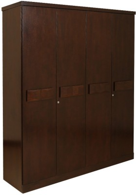 HomeTown Amelia Solid Wood 4 Door Modular Closet(Finish Color - Dark Walnut)