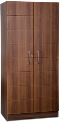 Debono Checkers Wardrobe in Walnut & Acacia Dark Matt Finish Engineered Wood Free Standing Wardrobe