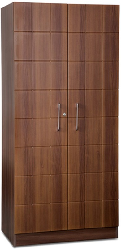 Debono Checkers Wardrobe in Walnut & Acacia Dark Matt Finish Engineered Wood Free Standing Wardrobe(Finish Color - Walnut and Acacia Dark Matt, 2 Door )