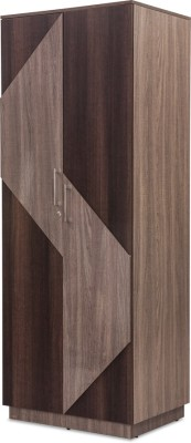 Durian THOMAS/WD-2 Engineered Wood Free Standing Wardrobe(Finish Color - Africana/Dark Birch, 2 Door )