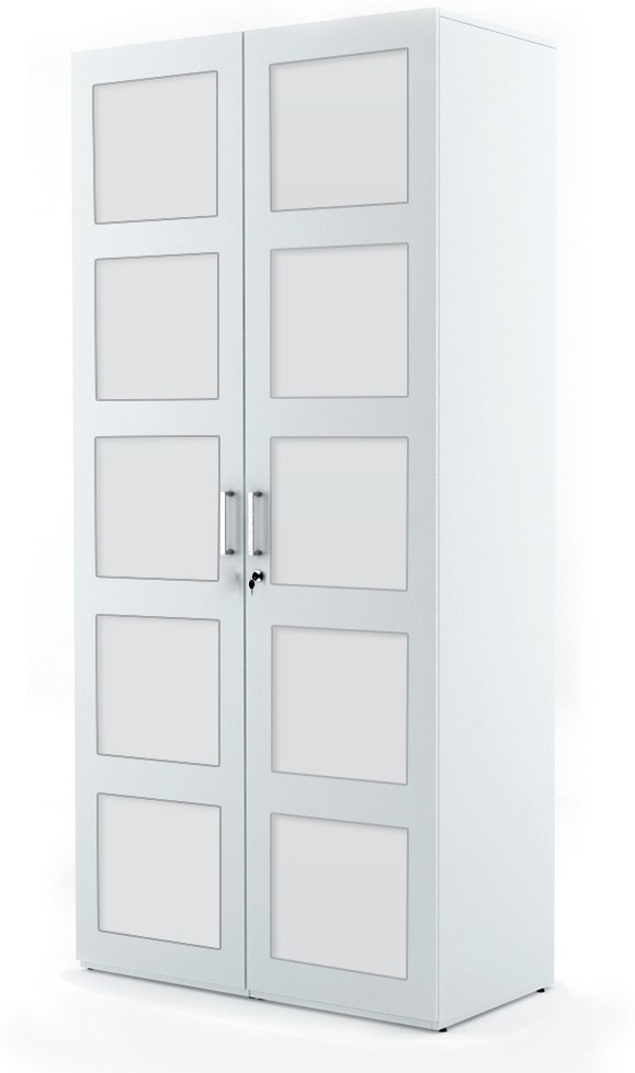 View UNiCOS Glass Free Standing Wardrobe(Finish Color - Frosty White, 2 Door ) Furniture (UNiCOS)