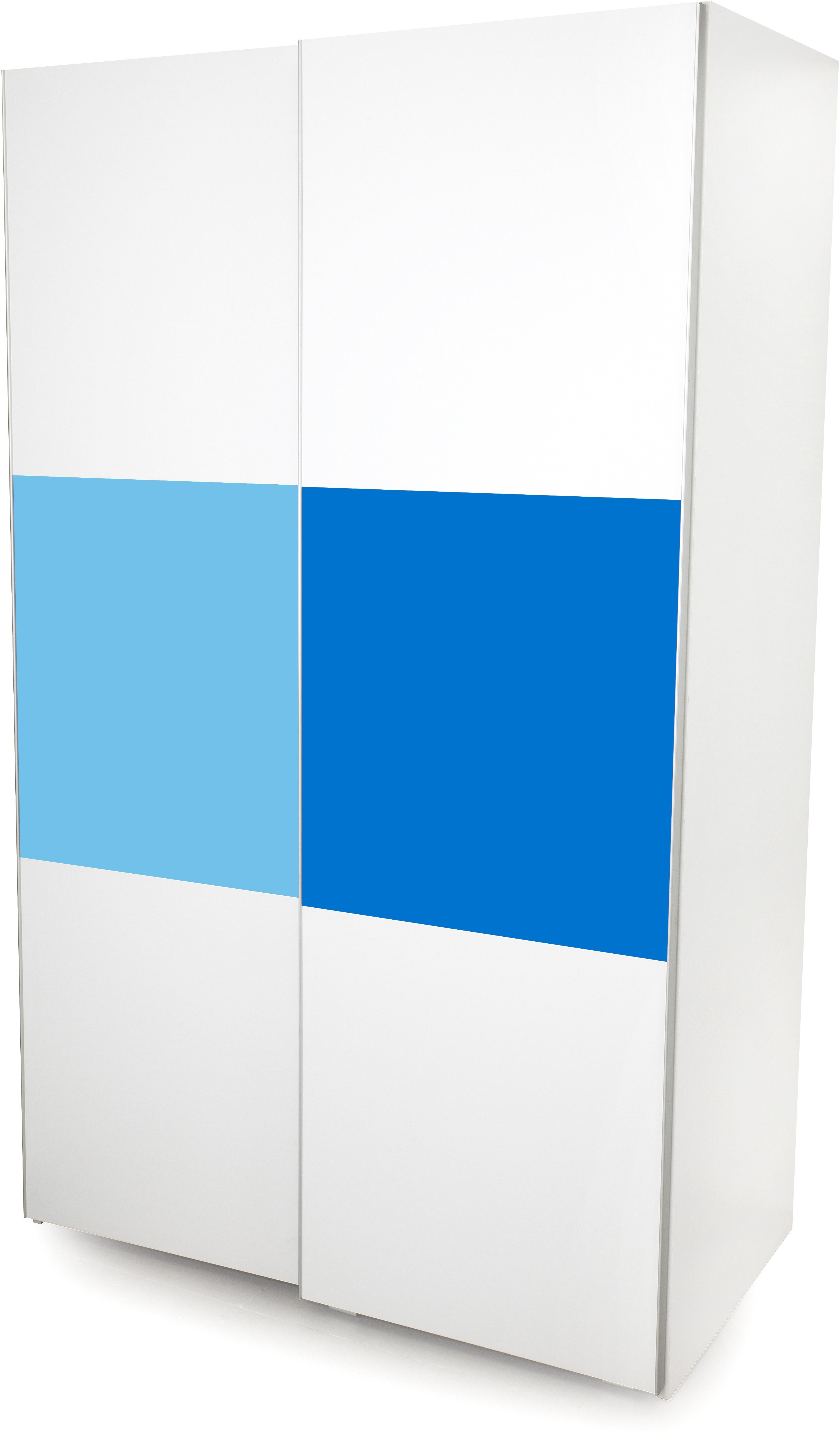 View Alex Daisy Young America Engineered Wood 2 Door Wardrobe(Finish Color - Blue-White) Price Online(Alex Daisy)