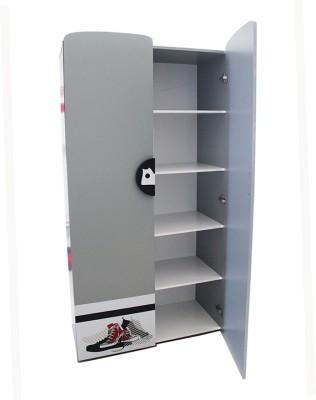 TEZERAC Engineered Wood Free Standing Wardrobe(Finish Color - Grey, 2 Door )