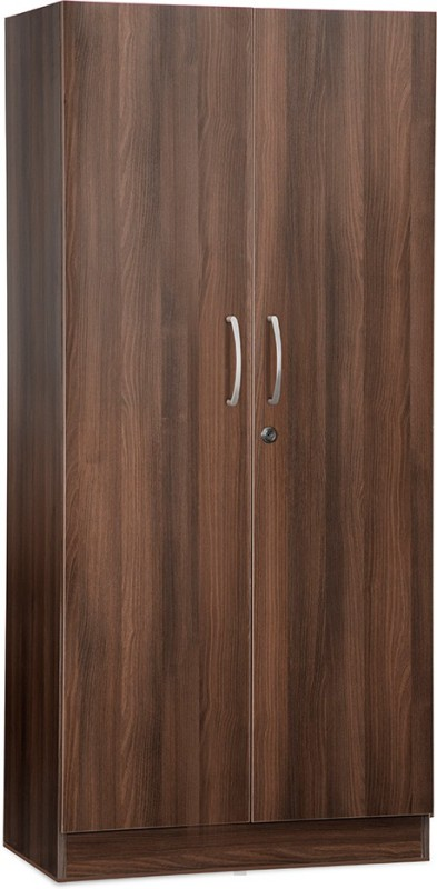 Debono Bliss Two door Wardrobe in Acacia Dark Engineered Wood Free Standing Wardrobe(Finish Color - Acacia Dark matt Finish, 2 Door )