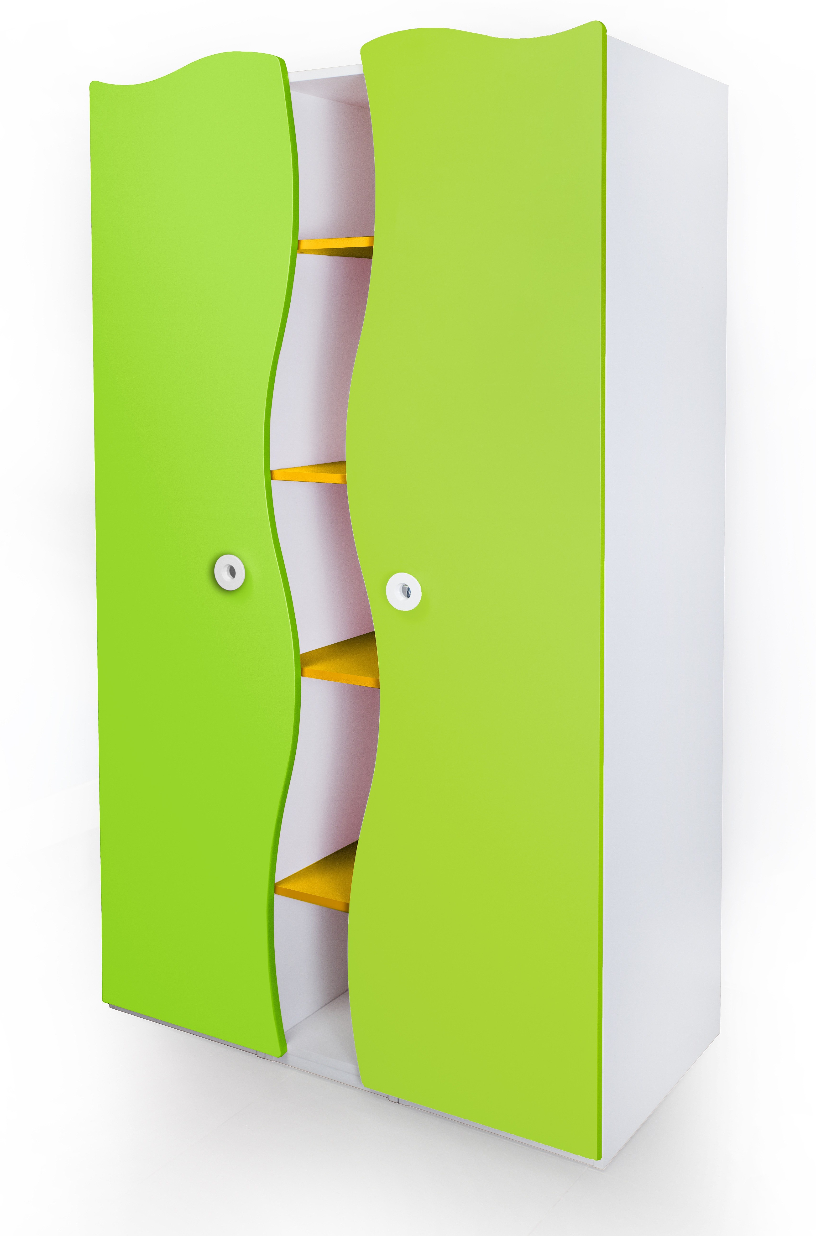 View Alex Daisy Prism Engineered Wood 2 Door Wardrobe(Finish Color - Yellow - Green - White) Price Online(Alex Daisy)