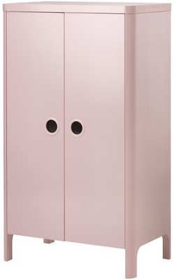 TEZERAC Engineered Wood Free Standing Wardrobe(Finish Color - Pink, 2 Door )