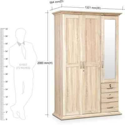 HomeTown Orion Engineered Wood Free Standing Wardrobe