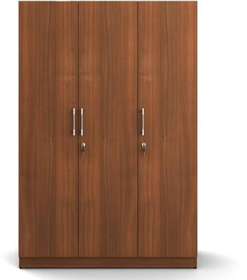 Spacewood Engineered Wood Free Standing Wardrobe(Finish Color - Walnut Rigato woodpore, 3 Door )