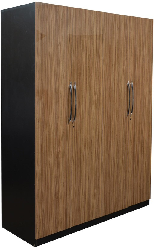 View Parin Engineered Wood 4 Door Wardrobe(Finish Color - UV Finish Light Brown) Price Online(Parin)