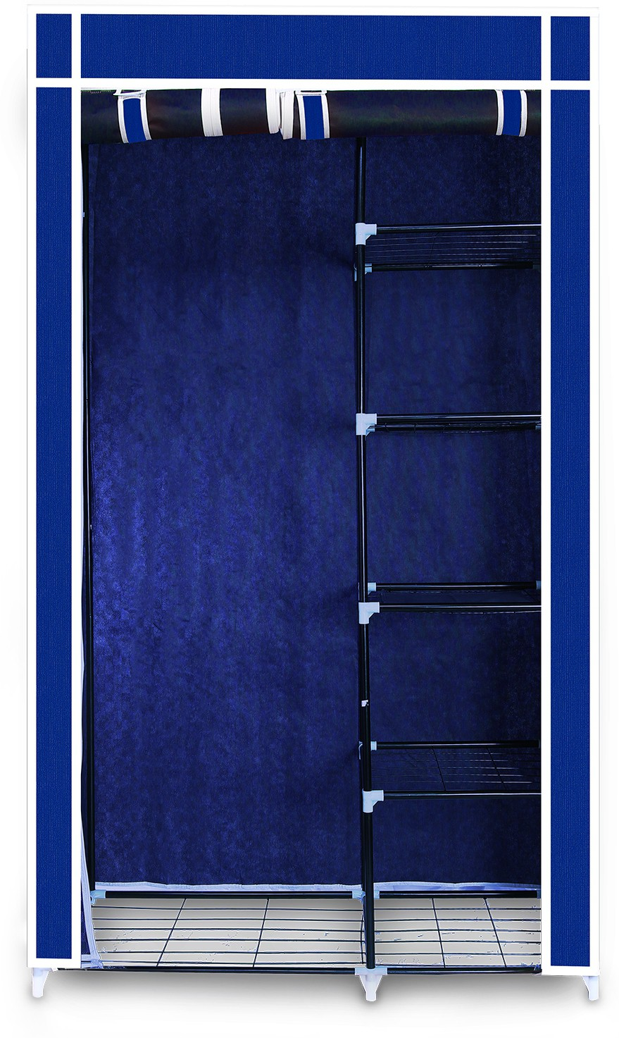View Birdy Fabric Closet(Finish Color - Blue, 2 Door ) Furniture (Birdy)