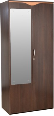 HomeTown Swirl 2 Door Engineered Wood Free Standing Wardrobe