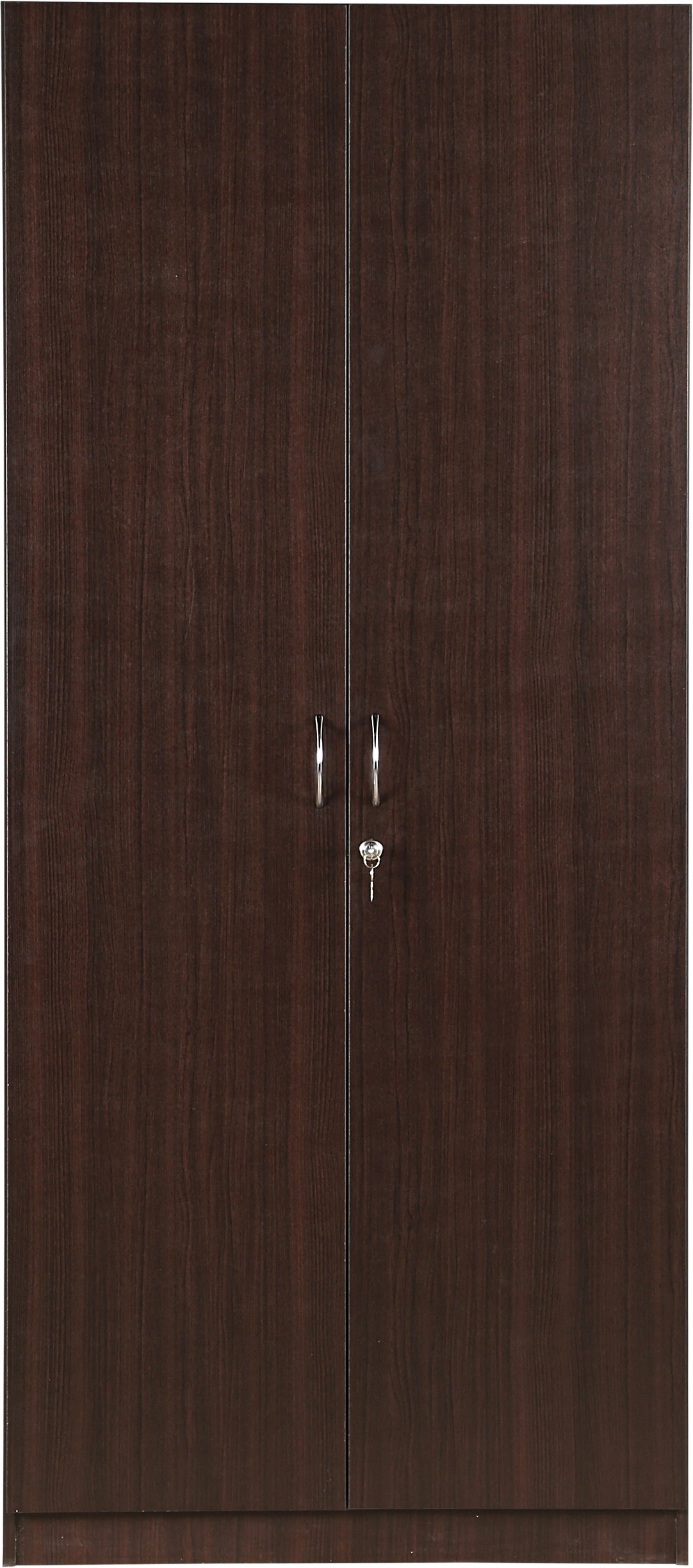 HomeTown Zina Engineered Wood 2 Door Modular Closet(Finish Color - Walnut)