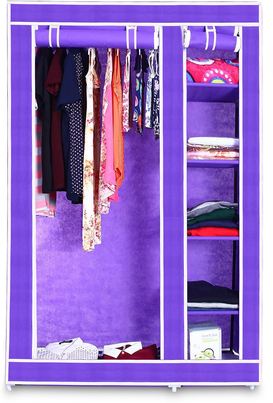 View Birdy Fabric Closet(Finish Color - purple, 2 Door ) Furniture (Birdy)
