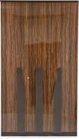 Evok Cosmo Engineered Wood 3 Door Wardrobe(Finish Color - Walnut Brown)