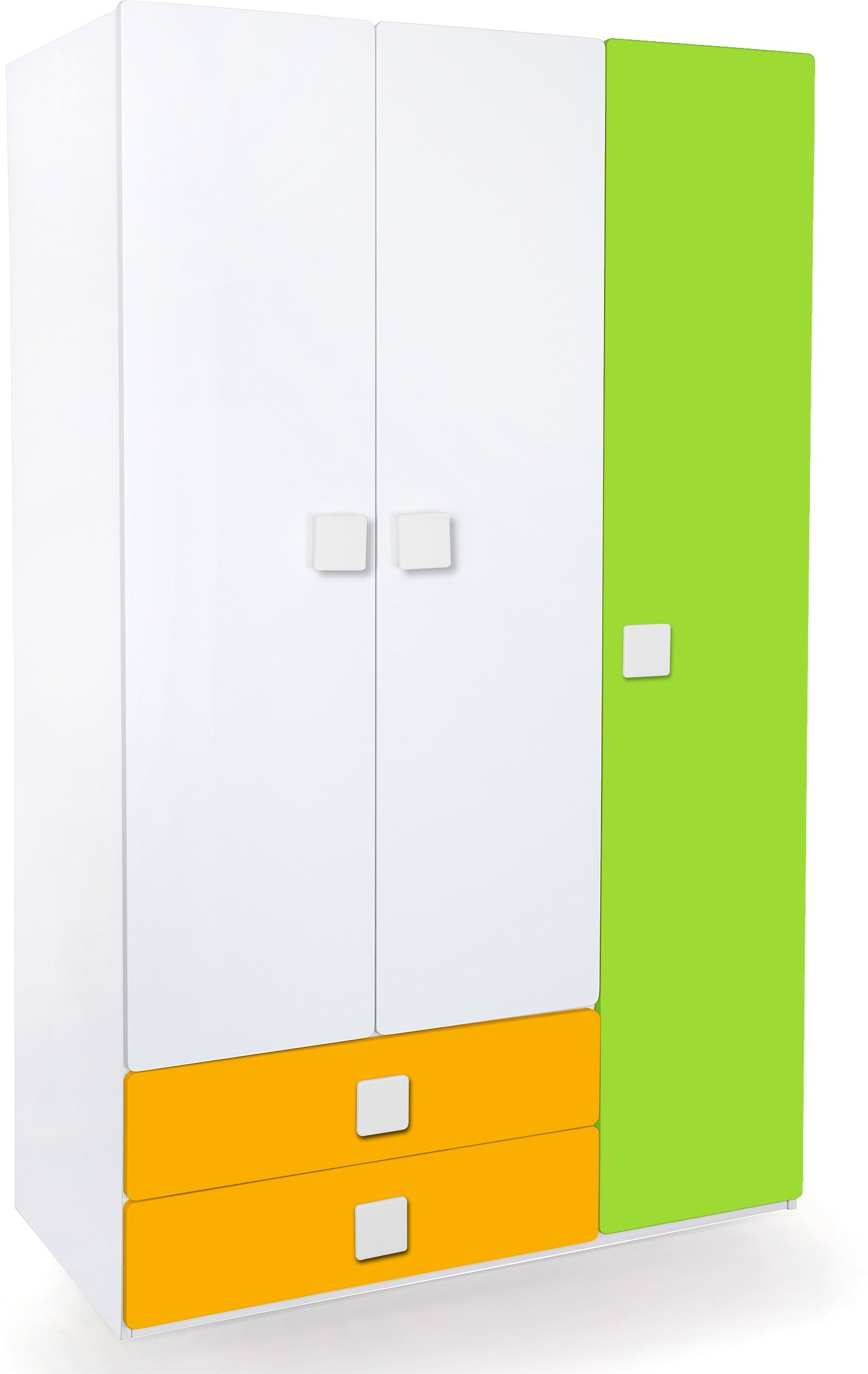 View Alex Daisy Universal Engineered Wood 3 Door Wardrobe(Finish Color - White, Yellow & Green) Price Online(Alex Daisy)