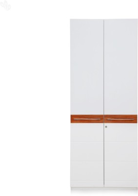 Royal Oak Aster Engineered Wood Free Standing Wardrobe(Finish Color - White, 2 Door )