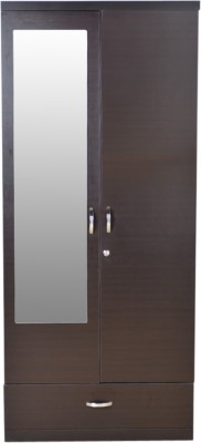 HomeTown Utsav 2 Door Engineered Wood Free Standing Wardrobe