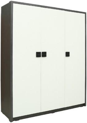 RAWAT SERIES 18 Engineered Wood Modular Wardrobe(Finish Color - BLACK GRAINY, 3 Door )