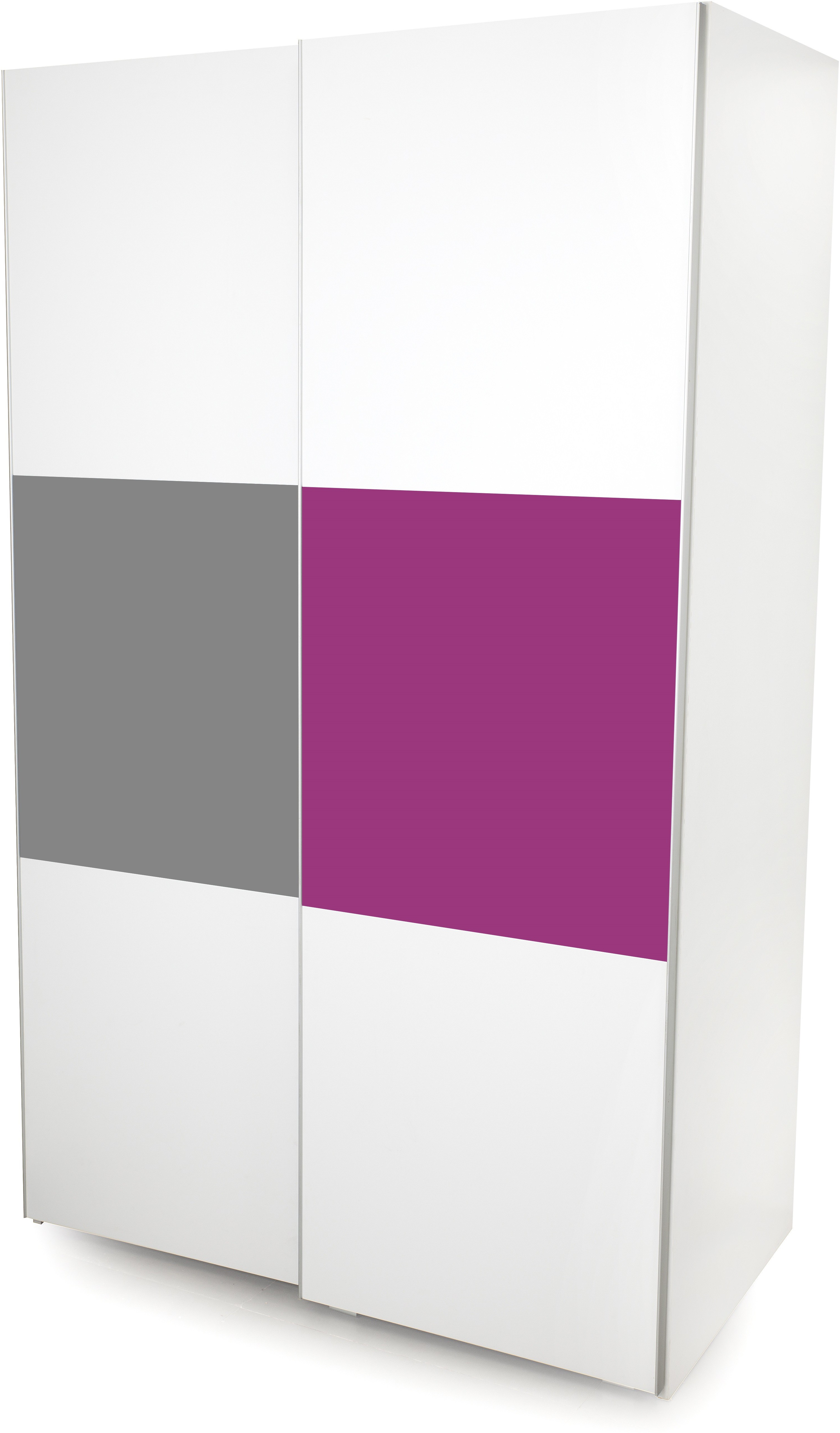 View Alex Daisy Young America Engineered Wood 2 Door Wardrobe(Finish Color - Majenta-White) Price Online(Alex Daisy)