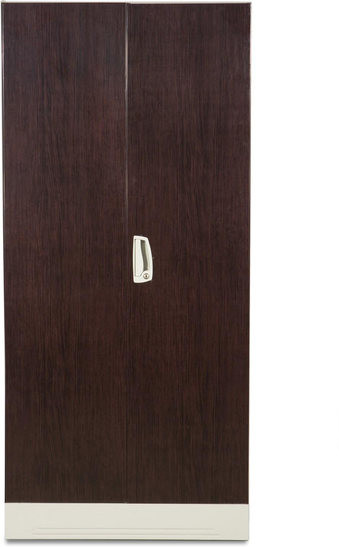 Godrej Interio Slimline Wl Metal Almirahfinish Color Dark Wood