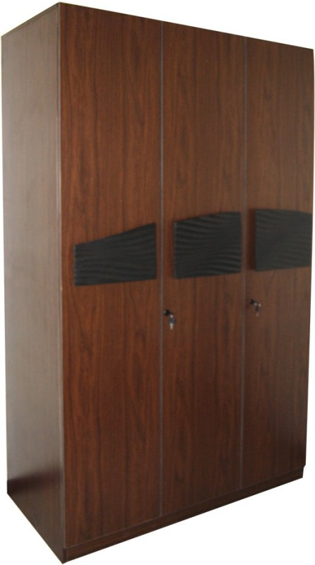 Parin Engineered Wood Free Standing Wardrobe(Finish Color - Brown, 3 Door )