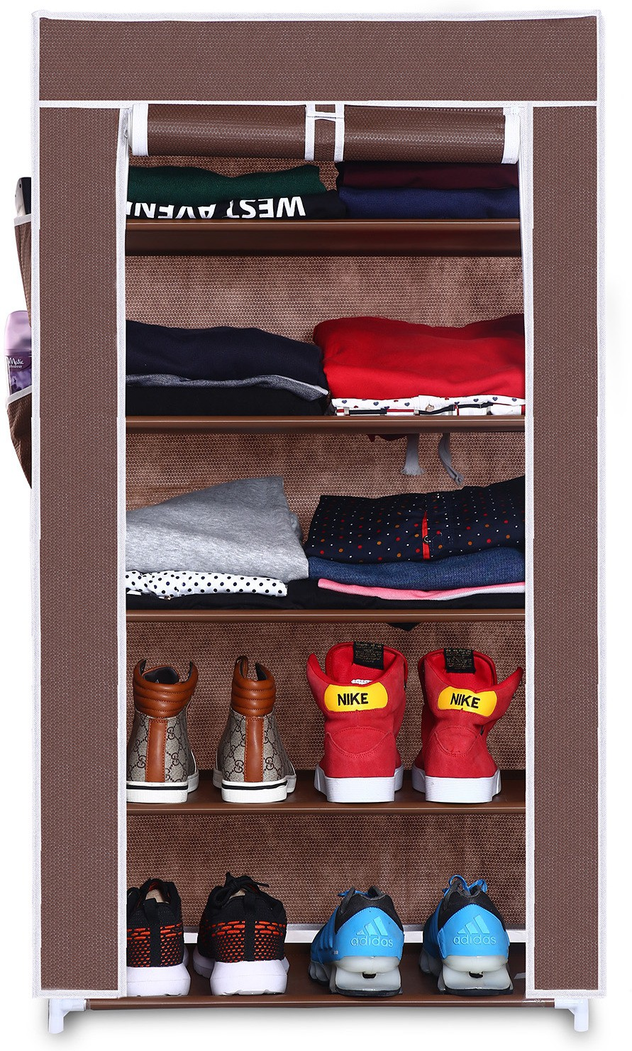View Birdy Fabric Closet(Finish Color - brown, 1 Door ) Furniture (Birdy)